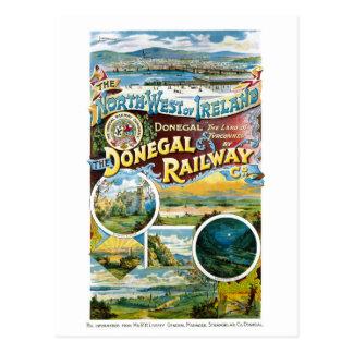 Het Herstelde Vintage Poster van Ierland Donegal Briefkaart