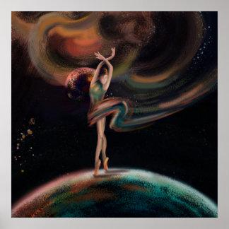 Het het dansen heelal poster