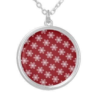 Het het feestelijke Rood & Wit van de Sneeuwvlok Zilver Vergulden Ketting