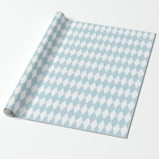 Het het Franse Blauw & Wit van de Harlekijn van Inpakpapier