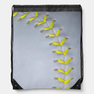 Het het gele Honkbal/Softball van Steken Trekkoord Rugzak