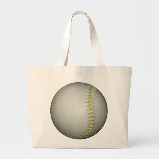 Het het gele Honkbal/Softball van Steken Canvas Tas