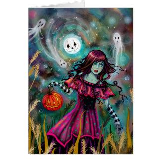 Het het Glimlachen Art. van Halloween van de Briefkaarten 0