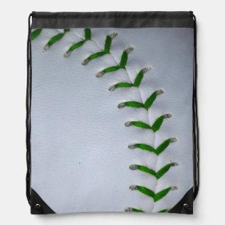 Het het groene Honkbal/Softball van Steken Trekkoord Rugzakjes
