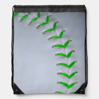 Het het heldergroene Honkbal/Softball van Steken Rugtas