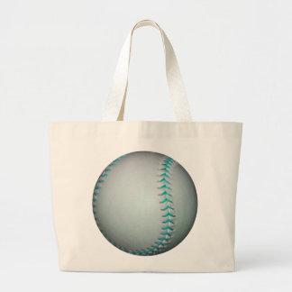 Het het lichtblauwe Honkbal Softball van Steken Canvas Tas
