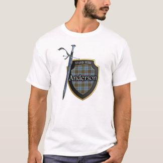Het het Schotse Schild & Zwaard van het Geruite T Shirt