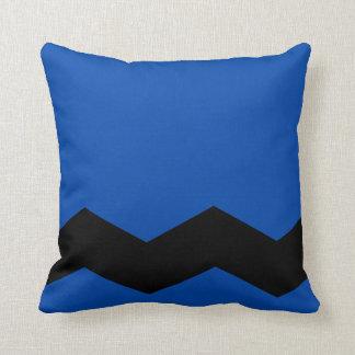 Het het stevige Blauw van het Kobalt en Ontwerp Sierkussen