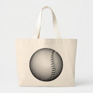 Het het zwarte Softball Honkbal van Steken Canvas Tassen