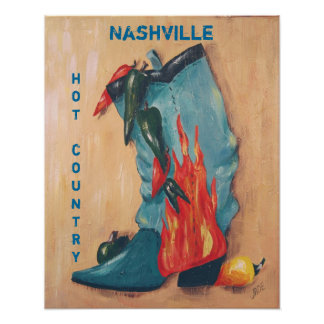 Het hete land poster van Nashville,