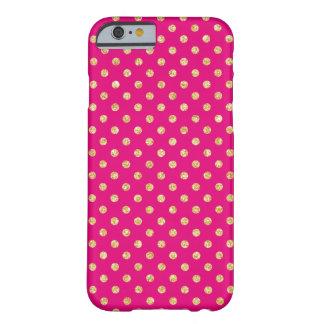 Het hete Roze Goud schittert het Patroon van Barely There iPhone 6 Hoesje