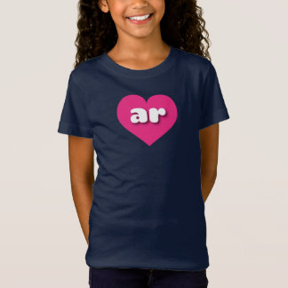Het hete roze hart van Arkansas - miniliefde T Shirt