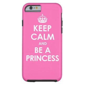 Het hete Roze houdt Kalm & is een iPhone 6 van de  Tough iPhone 6 Hoesje