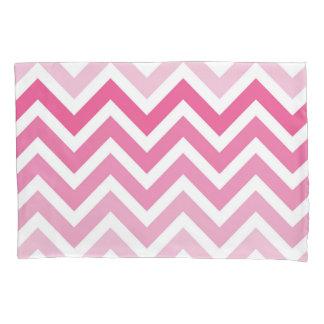 Het hete Roze Patroon van de Zigzag van Ombre van Kussensloop