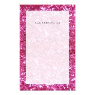 Het hete Roze schittert Blik Briefpapier