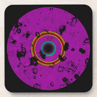 Het hete Roze Veelkleurige VinylPatroon van de Bier Onderzetters