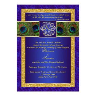 Het Hindoese Blauwe Gouden Huwelijk van de Pauw G