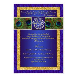 Het Hindoese Blauwe, Gouden Huwelijk van de Pauw Kaart