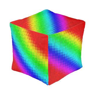 Het hip Mozaïek van de Regenboog betegelt Patroon, Vierkant Zitkussen