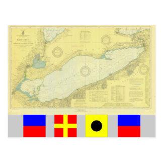 Het historische Briefkaart van de grafiek van Erie