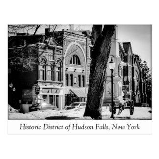 Het historische District van Herfsten Hudson Briefkaart