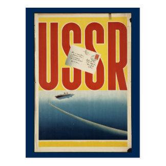 Het historische Vintage Poster van de USSR- Reis Briefkaart
