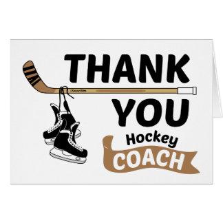Het hockey dankt u traint Schaatsen en Stok Wenskaart