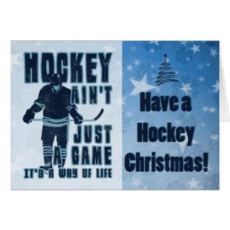 Het hockey is niet alleen een Kerstkaart van het Briefkaarten 0