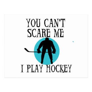 Het hockey u kan niet me doen schrikken T-shirts Briefkaart