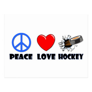 Het Hockey van de Liefde van de vrede Briefkaart