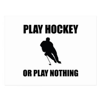 Het Hockey van het spel of niets Briefkaart