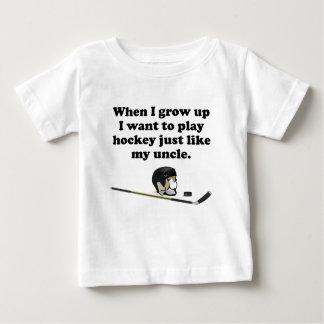 Het Hockey van het spel zoals Mijn Oom Baby T Shirts