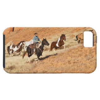 Het hoeden van de cowboy paarden tough iPhone 5 hoesje