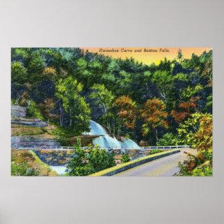 Het hoefijzer Uitzicht van de Kromme van de Herfst Poster