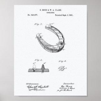 Het hoefijzer Witboek van de Kunst van 1881 Poster