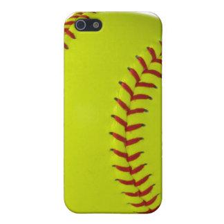 Het Hoesje Iphone 4 van IPhone van het softball iPhone 5 Cases