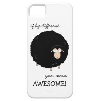 Het hoesje van de Illustratie van zwart schapen