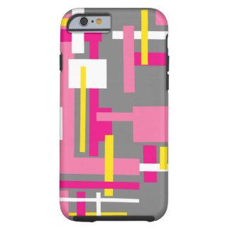 Het Hoesje van de telefoon met roze grijze blokken