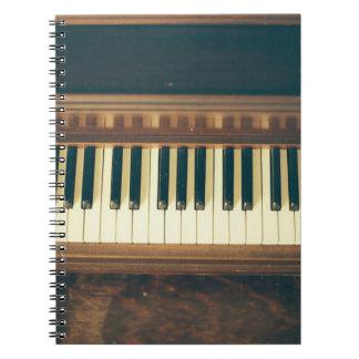 Het hoesje van de Telefoon van de piano Notitieboek