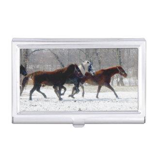 Het Hoesje van het Visitekaartje van paarden Visitekaartjes Houder