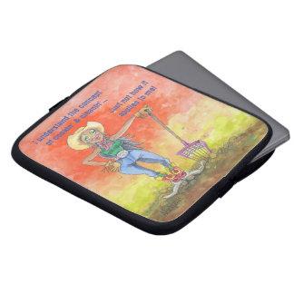 Het hoesje van IPad van BarnChick Laptop Sleeve