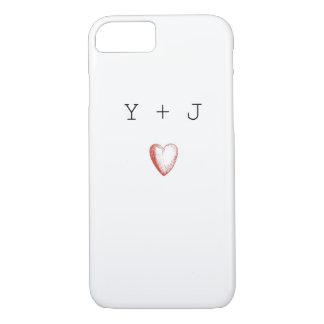 Het Hoesje van IPhone van de Initialen van de