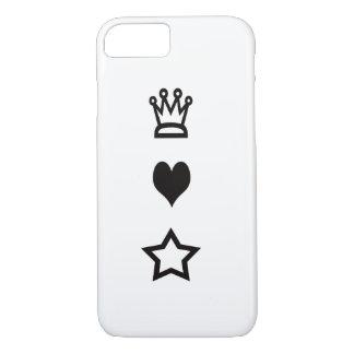 Het Hoesje van iPhone van koningin Heart Stars