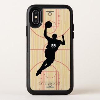 Het Hof van het basketbal en het Ontwerp van de OtterBox Symmetry iPhone X Hoesje