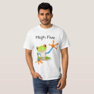 Het hoge Oranje en Blauwe Grappige Overhemd van T Shirt