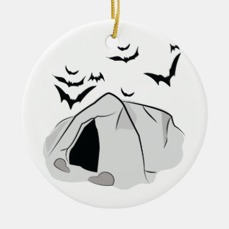 Het Hol van de knuppel Rond Keramisch Ornament