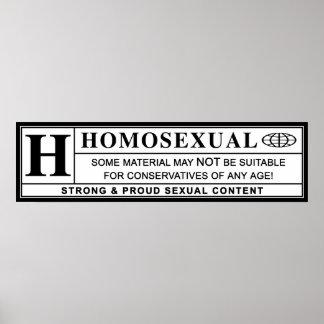 Het homoseksuele Etiket van de Waarschuwing Poster