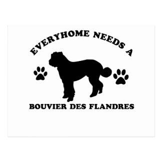 Het hondenrasdesign van Bouvier des flandres Briefkaart
