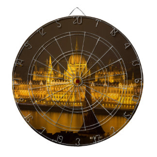 Het Hongaarse Parlement 's nachts Boedapest Dartbord