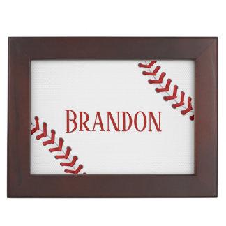 Het honkbal rijgt Naam van het Spel van de Bal van Herinneringen Doosje